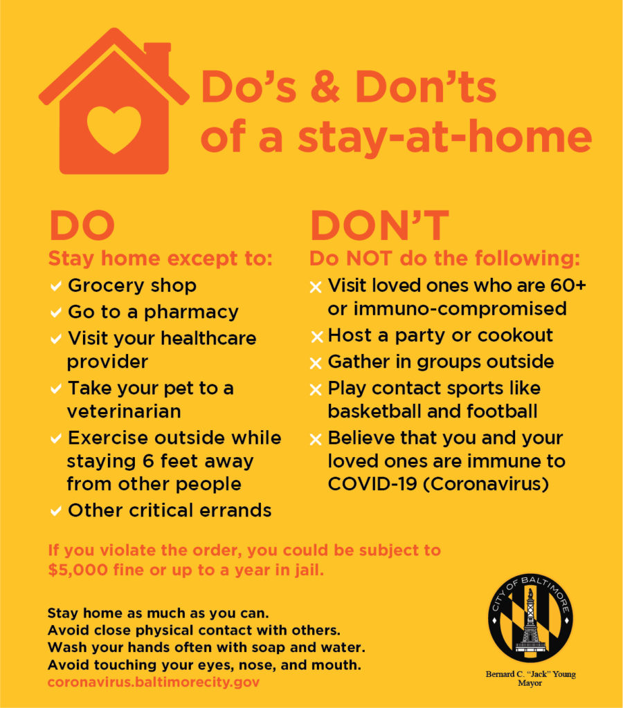 COVID-19 Stay at Home Do's & Don'ts
